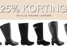 Bij Bagoes 25% korting op alle laarzen brede schacht van JJ Footwear